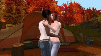 Interracial outdoor sex created in interactive 3D game