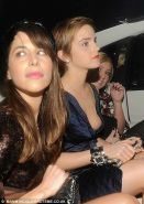 Emma Watson flashing her nipple and her panties upskirt in car paparazzi picture
