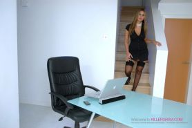 Anaya Leon and Anjali Kara Suck and Fuck Their Boss in the Office