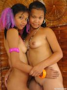 Cute lesbian Asians with small tits in hardcore threesome #69763744