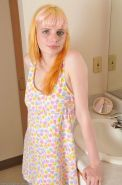 Sexy Hairy Teen Spreads On The Bathroom Counter
