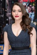 Kat Dennings showing huge cleavage at the 'Late Show With David Letterman' in NY