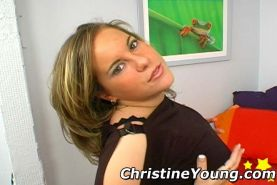 Young lesbian gals with teen Christine Young on sexy photos