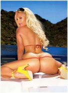 Nicole Coco Austin exposing her nice ass in thong on boat