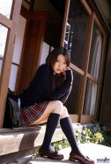 Japanese schoolgirl Misa Shinozaki poses in thongs