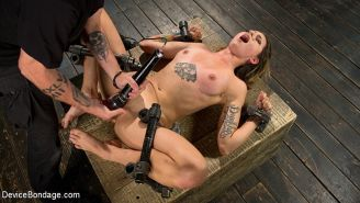 Missy Minks in bondage and made to cum while begging for it to s