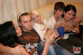Russian college students thow a wild orgy party