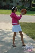 Basketball playing teen upskirt
