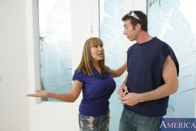 Ava Devine plays the naughty housewife well