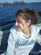 Real amateur teen girl topless on boat