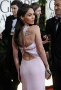 Megan Fox exposing fucking sexy body and nice tattoo on her back
