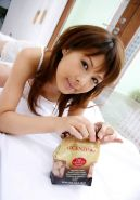 Cute japanese teen getting ready for bed