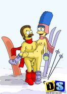 The Simpsons get perverted. Cartoon pirates enjoying unleashed s