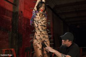 Lyla is brutalized in her most extreme bondage shoot ever