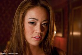 Busty Asian Mia Lelani has been purchased as a sex slave by the wealthy sadist S