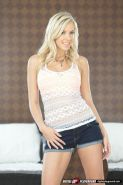 BiBi Jones gets screwed in bed in her pretty white thong