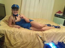 Lea Lexis Dressed As A Sexy Cop Anal Bead and Pussy Play