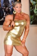 Massive Female Bodybuilder full of veins and ripped muscles