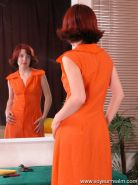 Nude red-haired beauty unaware of spy cam