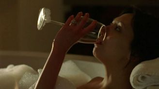 Linda Park topless under shower and nude in movie caps