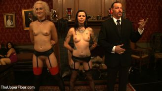 Dylan Ryan and subgirls at sex bdsm service party
