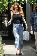 Lindsay Lohan showing her nice big tits in see thru top paparazzi pictures