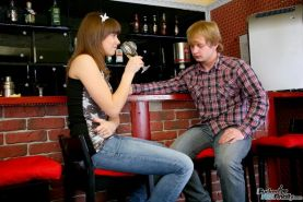 Sex hungry teen Luna May getting screwed in the bar