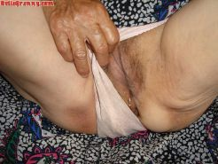 Old pussy granny with big panties