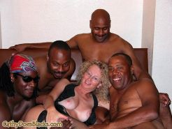 Milf left with black gangbang dripping creampie