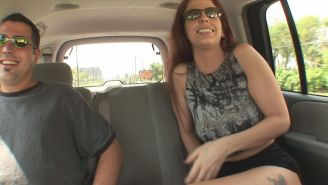 Sabrina gets laid in a van.,Backseat babe in the mood for bj.,Sabrina gets fucke