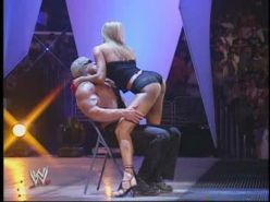 Stacy Keibler exposing fucking sexy body and hot ass in thong on stage
