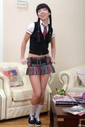 Schoolgirl loving a doggystyle fucked
