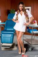 Pretty dentist August Ames gets drilled by a patient