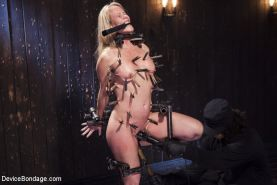Milf Simone is brutalized in bondage and made to cum