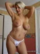 Busty amateur blonde milf showing off