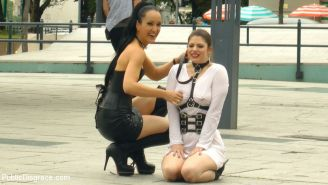 Longtime PD Fan and public whore Lucia Love is greedy to be used on Public Disgr
