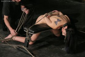 Gorgeous January Seraph erotically tortured in this hardcore maledom fetish shoo