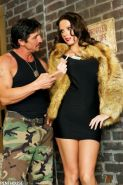 Jennifer Dark gets screwed outside in her little black dress