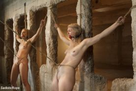 These two whores find themselves in a brutal predicament. Dylan is on her back a