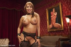 Ava Devine busty is bdsm fucked in everyhole at kinky sex party with people watc