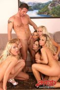 Angel Dark fucked in a wild orgy
