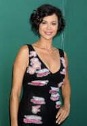 Catherine Bell showing cleavage at Hallmark Channels 2014 Summer TCA Party in Be