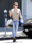 Sophia Bush showing huge cleavage while shopping out in Beverly Hills