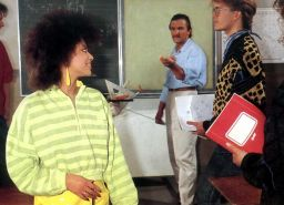 Retro honey with an afro fucked by her teacher