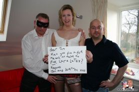 Filthy British slut fucked by horny competition winners