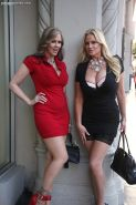 Kelly brings Julia Ann back to Ryans hotel room for a threesome
