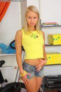 Beautiful teen blonde getting poked by massive black schlong