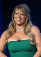Mariah Carey busty  upskirt at the 'American Idol' panel during 2013 Winter TCA