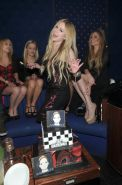 Avril Lavigne showing big cleavage in a tight tube dress at her new album releas #75213871