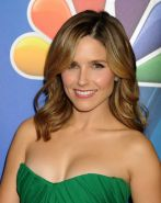 Sophia Bush busty in a tight tube green dress at NBCUniversal Press Tour in Pasa
